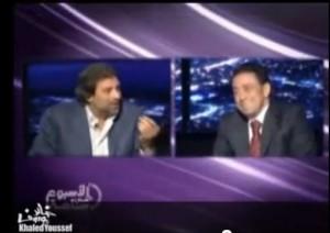 مواجهه ساخنه بين الاخواني أحمد أبو بركة و خالد يوسف